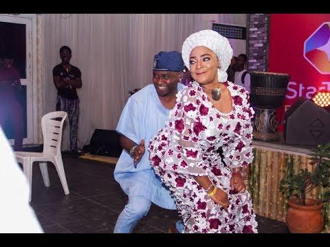 Femi Adebayo Dance &Rocks Tayo Sobola on the Dance floor at Alagbara Premiere,Got People Talking