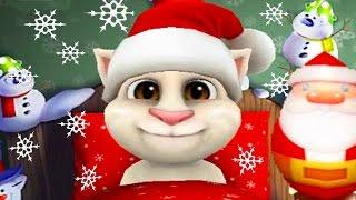 ГОВОРЯЩИЙ ТОМ #18 НОВЫЙ ГОД 🎅🎅🎅  Игра про мультфильм для детей Виртуальный котенок