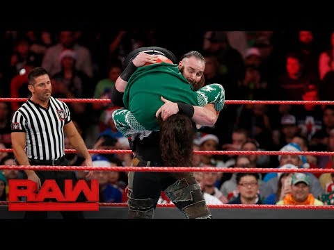 Braun Strowman vs. The Miztourage - Secret Santa Match: Raw, Dec. 25, 2017