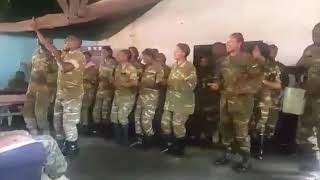 Video of Zambian Army officers