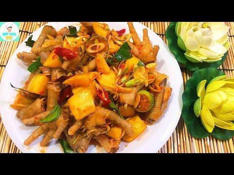 CHÂN GÀ SỐT THÁI | Món ăn hấp dẫn giới trẻ | Bếp Của Vợ