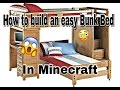 Minecraft: How to build an easy Bunk Bed