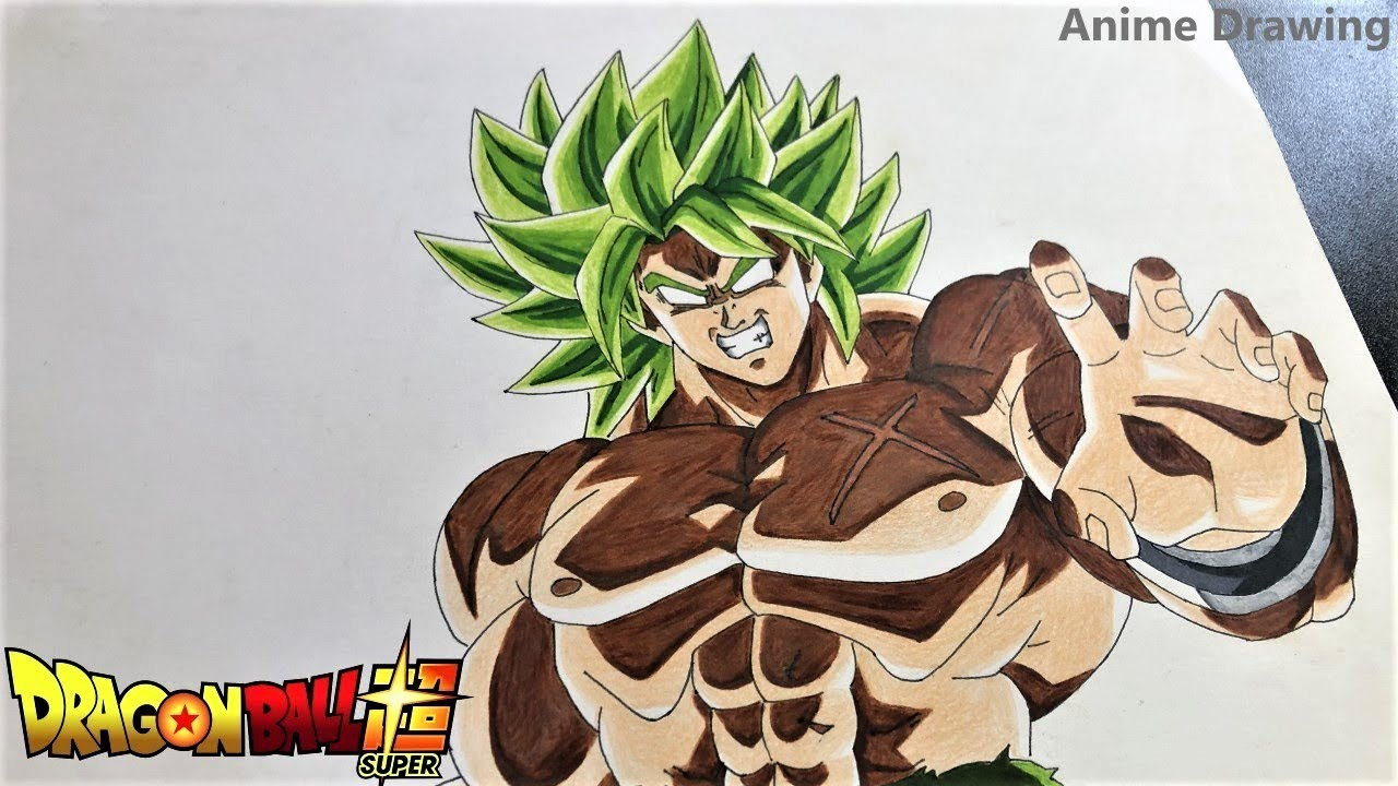 كيف ترسم برولي دراغون بول زد How To Draw Broly Dragon Ball Z