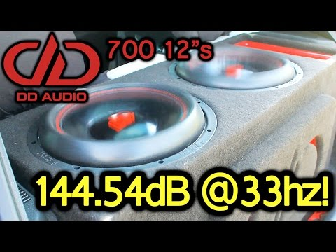 """12"""" Subs going CRAZY!! Digital Designs 712s on 1600Wrms!"""