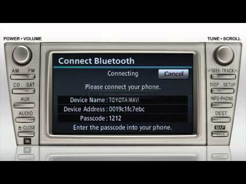 Navigation Bluetooth Pair A Phone Camry Toyota Of Slidell