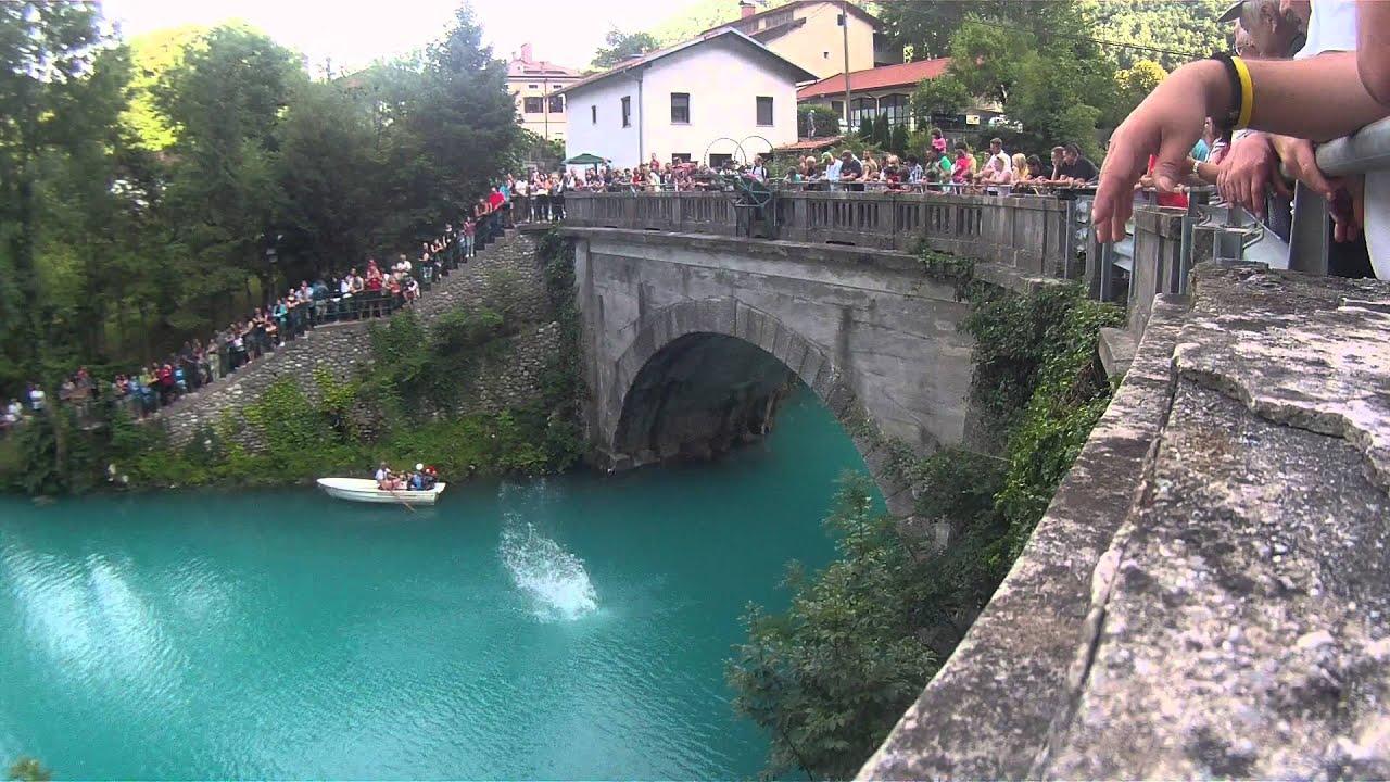 Skoki V Vodo Most Na Soi 42 No Na Jezeru 2014 YouTube