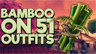BAMBOO Back Bling On 51 Outfits - Fortnite Cosmetics