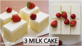Ultimate Tres Leches Cake Recipe ( Pastel de Tres Leches) 3 Milk Cake