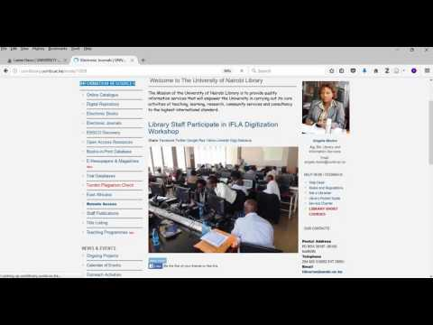 How to - Access UON Electronic Journals