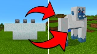 How To Spawn the Yeti Boss in Minecraft Pocket Edition (Yeti Boss Mob Addon)
