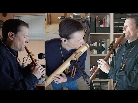 Native American Flute - Scott August - Buffalo Dance - Song for Three Native American Flutes
