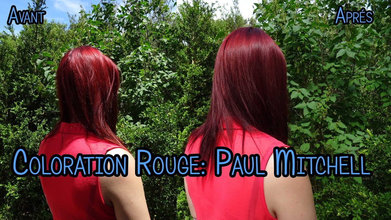 coloration rouge violet blond fonc paul mitchell x l 39 or al professionnelle majirel youtube. Black Bedroom Furniture Sets. Home Design Ideas
