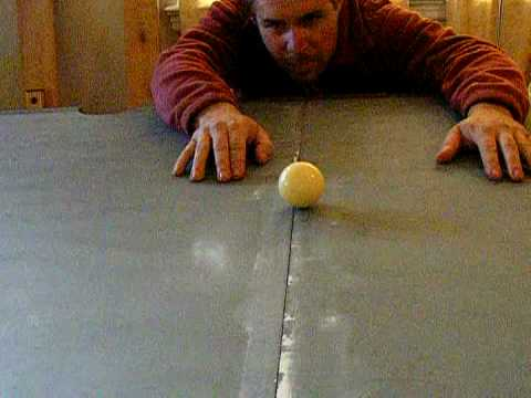 Pool Table Installation Part 3 Slate Seams Mpeg2video   YouTube