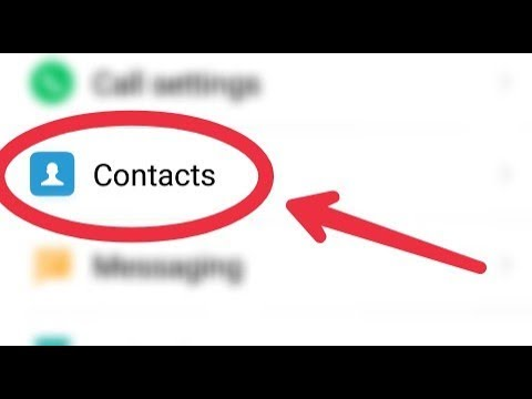 How To Manage Contacts System Apps Settings In Android