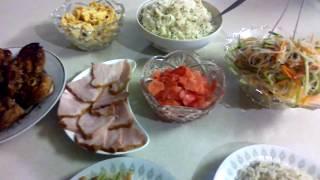 Ужин в азиатском стиле.