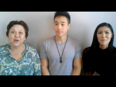 Amy Hill, Hayden Szeto, and Akemi Look