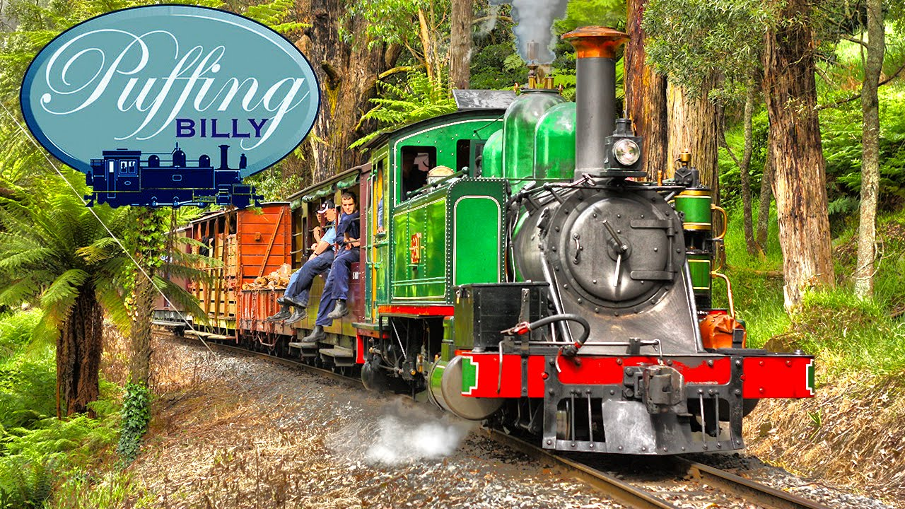Puffing Billy Australia - Steam Hauled Wood Train - YouTube