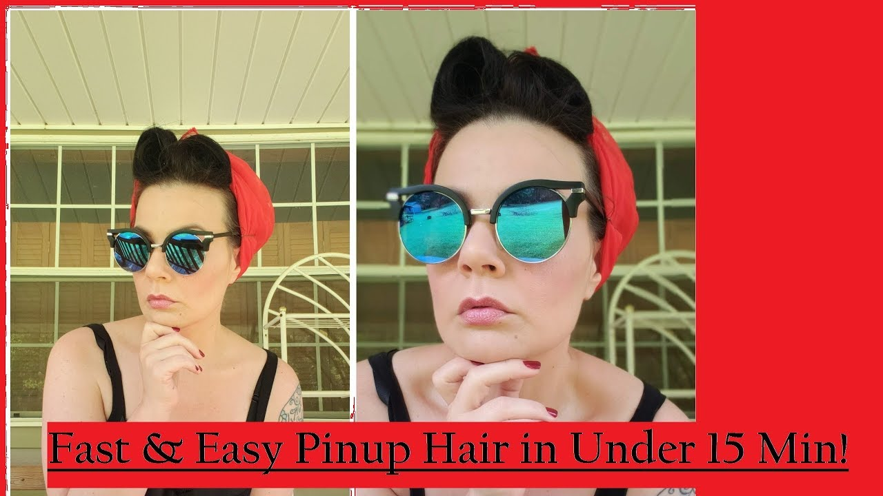 15 Min Fast And Easy Pinup Hair Style For Everyday Or Halloween