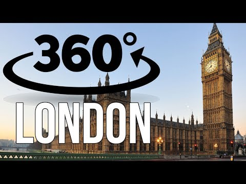 360° Tour of LONDON - Trafalgar Square & Big Ben