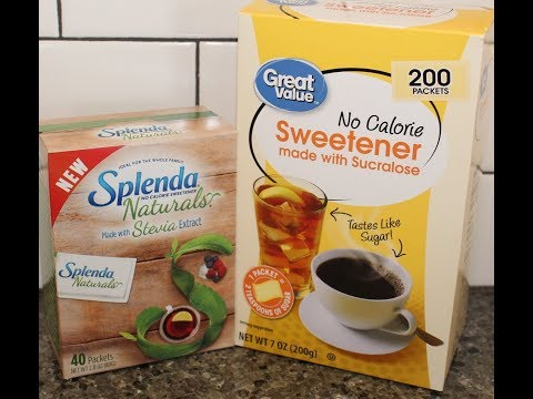 Splenda Naturals Vs Great Value No Calorie Sweetener Comparison