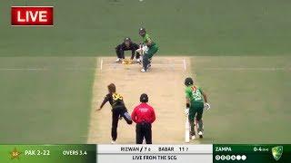 Australia Vs Pakistan 1st T20 LIVE   AUSvPAK   PAK - 107/5 & AUS - 41/0 (3.1/15 ov)