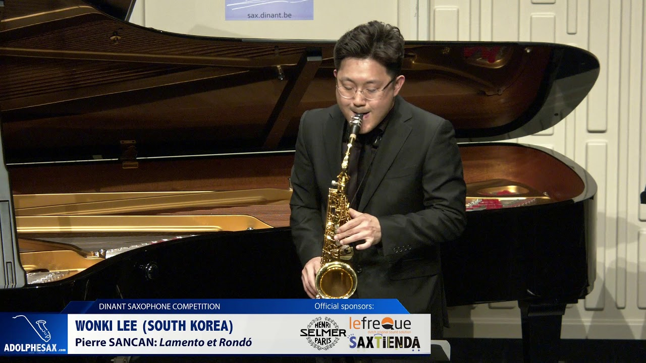 Wonki Lee South (Korea) - Lamento et Rondó by Pierre Sancan (Dinant 2019)