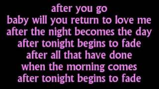 Mariah Carey - After Tonight - Lyrics on screen