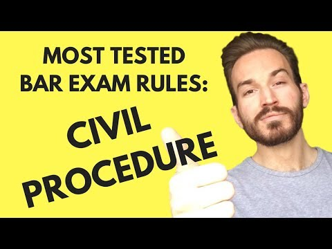Most Tested Bar Exam Rules: Civil Procedure