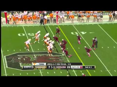 Tennessee QB Tyler Bray vs South Carolina ᴴᴰ