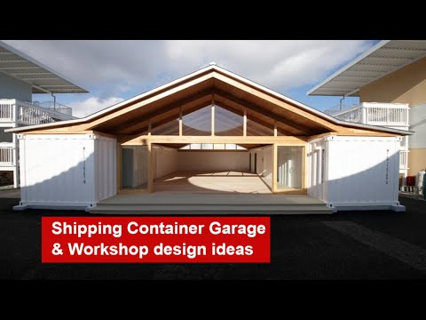 Shipping container workshop design – shipping container garage & workshop design ideas