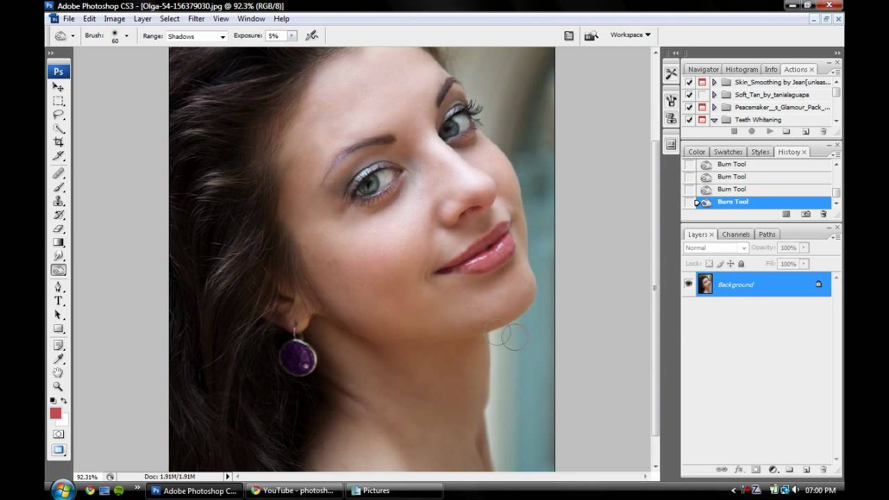 Adobe photoshop cs3 extended: retouching motion pictures: gary.