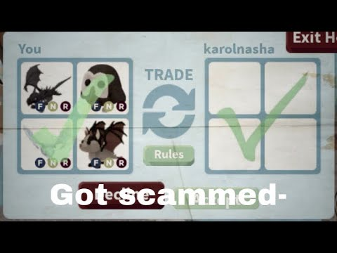 Trust trading..... did I get scammed/ roblox adopt me