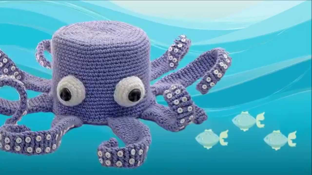 Octopus Amigurumi Crocheted Toilet Paper Cover Youtube