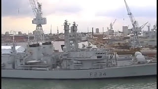 Royal Navy ships in Portsmouth Harbour - July 2001