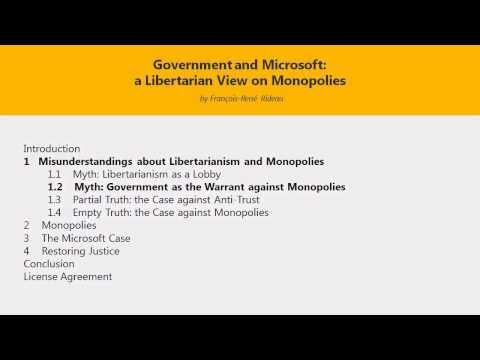Misunderstandings about Libertarianism and Monopolies