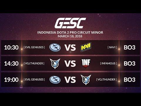 NAVI [UA] vs EVIL GENIUSES (US) [BO3] @GESC INDONESIA MINOR Playoffs Final Day