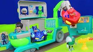 PJ Masks Unboxing: Romeo Lab Spielzeugautos, Pyjamahelden Catboy, Gekko & Owlette für Kinder deutsch