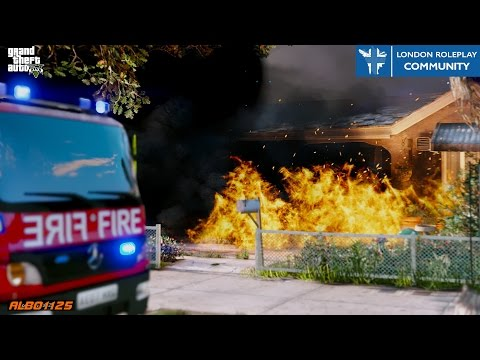 GTA5 LRPC - House & Vehicle Fires! - Firefighter Mod Online FiveM - London Roleplay Community #8