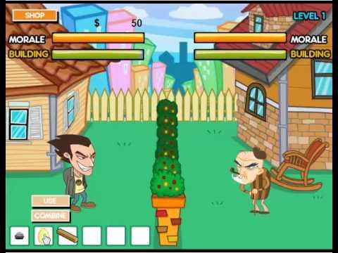เกมส์ต่อสู้ เกมส์ปาของใส่คนข้างบ้าน เกมส์มาใหม่