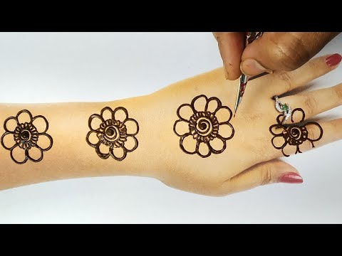 Easy Beautiful Mehndi - Latest Back Mehndi Design Step by Step - Ramzan Special - मेहँदी सीखे