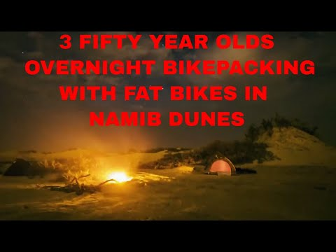 3 Fifties desert sand dune fatbiking overnight tent camping bikepacking Walvis Bay Namibia Africa