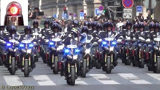 Gendarmerie Motorcycles Escort Armored Vehicles (14 Juillet 2016)