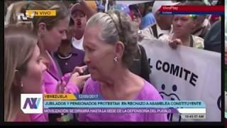 en venezuela hasta los abuelos protestan