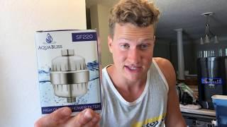 Best Shower Filter? AquaBliss Review / Benefits for Skin / Hair / (Removes Chlorine!!)