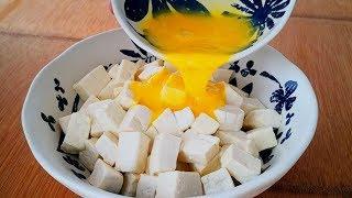 豆腐裡打2個雞蛋,沒想到這麼好吃,下飯又解饞,連吃一周都不膩【小穎美食】