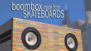 DIY Boombox made from Recycled Skateboards || speaker build tutorial