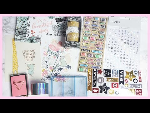 Stationery & Craft Haul ● Paperchase, HEMA & Tiger