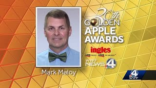 Mark Maloy of Bryson Middle School is this week's golden apple award winner