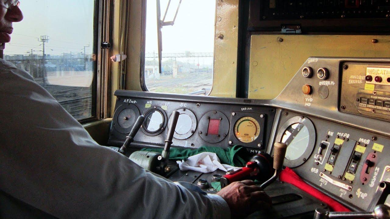 INDIAN RAILWAY LOCOMOTIVE DRIVE ! CAB RIDE COMPILATION 1 ...