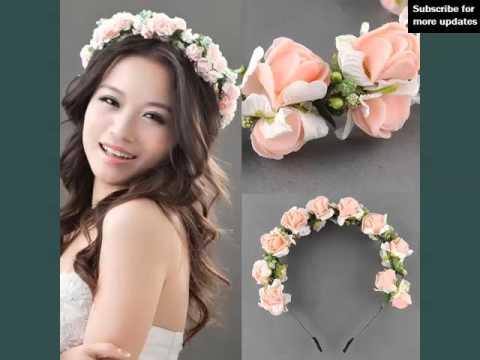Flower Hair Band Wedding Decorative Pics Flower Hair